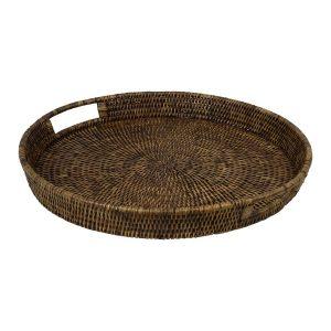 Hayman Natural Rattan Round Tray