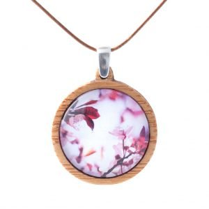 Myrtle & Me Pink Blossom Medium Bamboo Pendant