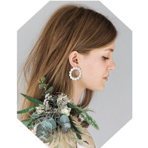 Days of August Reclaimed Stainless Steel Wreath Earrings