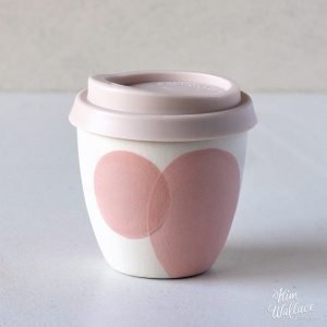 Blush Pink Reusable Ceramic Coffee Cup 8oz