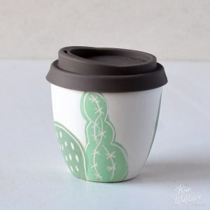Brown Cactus Reusable Takeaway Coffee Cup 8oz