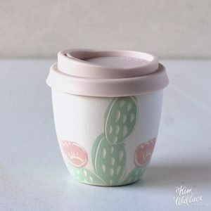 Pink Cactus Reusable Takeaway Coffee Cup 8oz