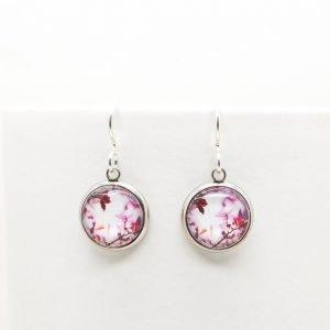 Myrtle & Me Pink Blossom Drop Earrings