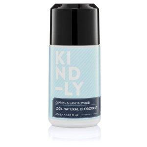 KIND-LY 100% Natural Deodorant - Cypress & Sandalwood