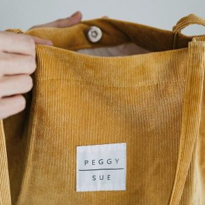 Peggy Sue Mustard Corduroy Bag