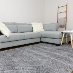 Como Wool Tufted Rug in Grey