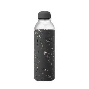 Porter Terrazzo Charcoal Reusable Glass Bottle
